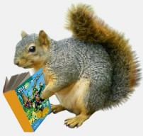 Poems and Rhyming Children's Stories - Squirrel reads Hoonraki Moon by Sheila Helliwell