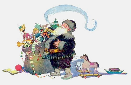 Twas The Night Before Christmas illustration 8 - He was chubby and plump, a  right